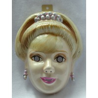 Princess Barbie Halloween Mask Mattel Rubies Costume Tiara Y132