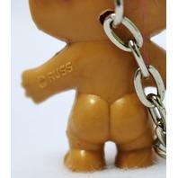 Vintage Russ Troll Doll Key Chain Pink Purple 1980's Vintage Stock FF