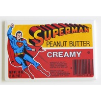 Superman peanut butter label FRIDGE MAGNET retro jar ad advertisement repro P3