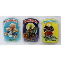 Vintage Topps Garbage Pail Kids Button Set of 3 GPK 1980's Pop Art Lot 4