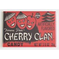 Cherry Clan candy box FRIDGE MAGNET cherry lemon head 80s and 90s retro ad I11