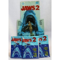 3 Packs Vintage Topps Jaws 2 Wax Pack Trading Cards Stickers 78 Movie Spielberg