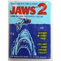 3 Packs of Vintage Topps Jaws 2 Wax Pack Cards Stickers 1978 Movie Spielberg