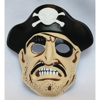 Vintage Collegeville Pirate Halloween Mask Pirates Skull Cross Bones Sailor Y147