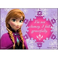 Anna Disney Frozen FRIDGE MAGNET I'm not clumsy I fall gracefully quote ana P13