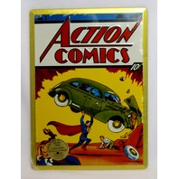 Action Comics Superman No. 1 Tin Sign Detective Comics DC Comic Book Hero D34