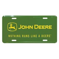 Nothing Runs Like A John Deere Metal License Plate Tractor Farm Equipment