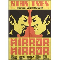 Star Trek Mirror Mirror FRIDGE MAGNET Captain Kirk Spock Enterprise C25