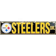 Pittsburgh Steelers Drive Tin Metal Street Sign NFL Football Team Steeler E91