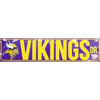 Minnesota Vikings Drive Tin Metal Street Sign NFL Football Team Sports Decor E92