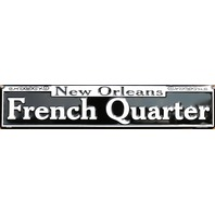 New Orleans French Quarters Tin Metal Street Sign Bourbon Street NOLA E93