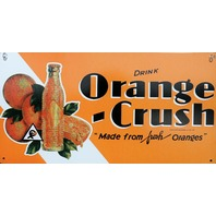 Drink Orange Crush Tin Metal Sign Soda Pop Cola Kitchen Garage Classic Ad F6