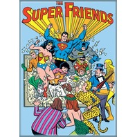 DC Comics Justice League Super Friends FRIDGE MAGNET Superman Robin Batman N16