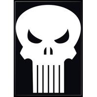 The Punisher Marvel Comics Black & White FRIDGE MAGNET Skull Logo S12