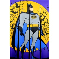 Vintage Batman Door Defender Door Banner Comic book super hero doorway curtain