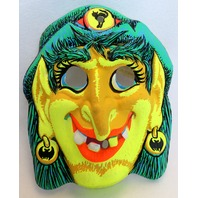 Vintage Gypsy Witch Halloween Mask Star Band 1969 Rare Y156