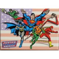 The Justice League FRIDGE MAGNET DC Comics Superman Batman Flash Green Lantern