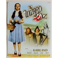 The Wizard of Oz With Judy Garland Tin Metal Sign Dorothy Home Movie Theater D60