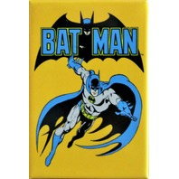 Vintage Retro Styled Batman FRIDGE MAGNET Bat Symbol DC Comics Comic Book DESM