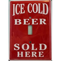Ice Cold Beer Sold Here Light Switch Plate Cover Home Garage Decor Cookout Summe