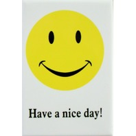 Have a Nice Day FRIDGE MAGNET Smile Face 70's Logo Funny Humor DESM i9