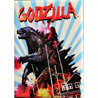 Godzilla FRIDGE MAGNET Blue Stripes Sci Fi Monster Movie Horror B Film ATAM