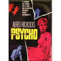 Alfred Hitchcocks Psycho MAGNET Classic Vintage Style Movie Horror B Film ATAM
