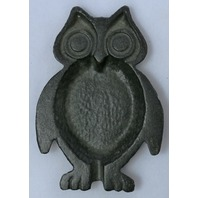 Vintage Styled Cast Iron Primitive Owl Ashtray Coin Dish Unique Metal Tray