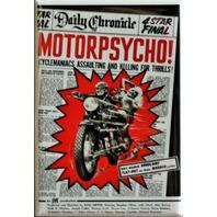 Motorpsycho Movie Poster FRIDGE MAGNET Motorcycle Biker B Flick Horror Film i2