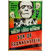 The Son of Frankenstein Movie Poster FRIDGE MAGNET B Flick Film Classic Movie AD Universal Monsters