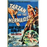 Tarzan and the Mermaids Movie Poster FRIDGE MAGNET B Flick Film Classic Movie AD