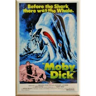 Moby Dick Movie Poster FRIDGE MAGNET Classic Vintage Style Epic Film M8