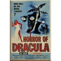 Christopher Lee Horror of Dracula Movie Poster FRIDGE MAGNET Cult Classic  Vampire Monster
