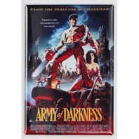 Army of Darkness Movie Poster FRIDGE MAGNET Cult Classic Evil Dead Ash Bruce Campbell I24