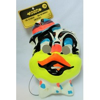 Vintage Party Duck Halloween Mask Medica 1967 Rare Childs Size Collectible