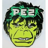 Vintage Incredible Hulk PEZ Halloween Mask Paper 1980's 80's Marvel Comics Y156