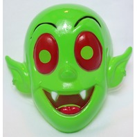 Vintage Little Dracula Green Halloween Mask 1990's 90's Cartoon Vampire Y236
