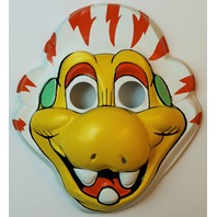 Vintage 1980's Dinosaur Halloween Mask 80's Cartoon Muppet Astronaut