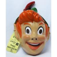 Vintage Walt Disney Peter Pan Halloween Mask 1980's 80's Cesar Costume Rare Y075