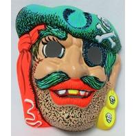 Vintage Pirate Halloween Mask Zest 1960's 60's Black Light Reactive Y039