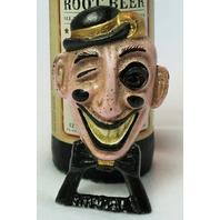 Cast Iron Wham-ee Bottle Opener Vintage Style Classy Top Hat Winking Gentleman