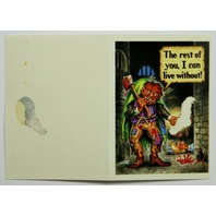 Vintage Topps Gruesome Greetings Cards Valentines Days Halloween Birthday Card 1992