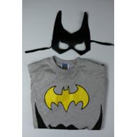 Batgirl Halloween Tshirt Costume with Mask Batman Black Cape Medium Adult