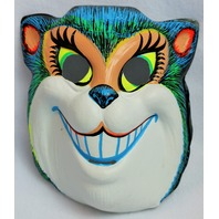 Vintage Smiling Cat Halloween Mask Zest 1960's 60's Black Light Reactive Y111