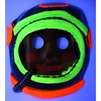 Vintage Astronaut Halloween Mask Spaceman Zest 1960's 60's Black Light Reactive