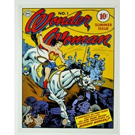 No. 1 Wonder Woman Tin Sign DC Comics Justice League Comic Books