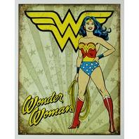 Vintage Style Wonder Woman Tin Sign DC Comics Justice League Retro
