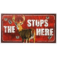 The Buck Stops Here Tin Sign Deer Hunting Farm Country Outdoors F3