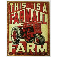 This Is A Farmall Farm Tin Sign IH International Harvester Tractor Country F16