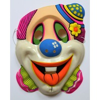 Vintage Clown Halloween Mask Topstone 1980s 80s Circus Carnival Y141